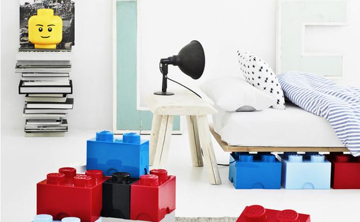 Lego storage head boy box testa minifigura for Lego arredamento